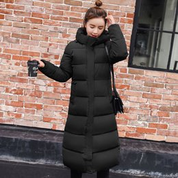 $enCountryForm.capitalKeyWord NZ - High Quality 2018 Warm Thicken Women's Winter Jackets Hooded X-Long Female Women Jacket Winter Slim Coat Parka Cotton Padded