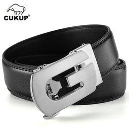 UniqUe belts for men online shopping - CUKUP Personality Unique Design Letter Automatic Buckle Metal Leisure Belt Men s Casual Style Pants Accessories for Men ZDCK123