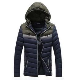 $enCountryForm.capitalKeyWord Australia - Fashionable Men's Cotton Jacket Coats Thicker Hat Removable Zipper Colour Coloured Cotton Jacket Autumn and Winter Youth Loose