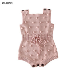 $enCountryForm.capitalKeyWord NZ - Milancel Spring New Boys Clothes Handmade Prom Toddler Knit Bodysuits For Baby Girls Q190518