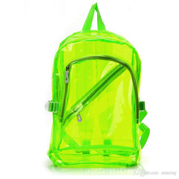 Chinese  Backpacks Small Jelly Beach Bag Transparent Clear Plastic Waterproof Backpack for Teenage Girls PVC School Bags Shoulders Bag Free Shipping manufacturers