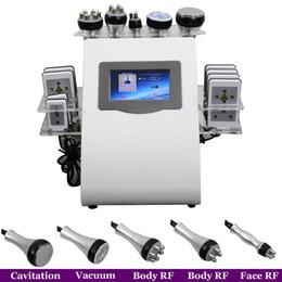 Discount body spa machine - 6 IN 1 Ultrasound Cavitation Machine Cavitation Lipolaser Vacuum Slimming Machine Spa Use Fat Burning Body Sculpture Wei