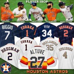 7396b7619 Houston jersey Astros 27 Jose Altuve 35 Justin Verlander 34 Nolan Ryan 4  George Springer 1 Carlos Correa 2 Alex Bregman 7 Craig Biggio 5 Jef