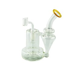 Neck hoNeycomb boNg online shopping - Glass Bong Water Pipe Inch Mini Clear Bent Neck With Female Joint Showerhead Honeycomb Percolator Oil Rig Bong Glass Water Pipes