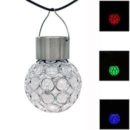 $enCountryForm.capitalKeyWord Australia - Solar LED Hanging Light Lantern Waterproof Hollow Out Ball Lamp for Outdoor Garden Yard Patio