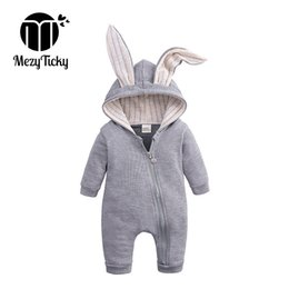 $enCountryForm.capitalKeyWord UK - Spring Autum Baby Hooded Rabbit Ear Rompers Newborn Boy Girl Cartoon Clothes Infant Cotton Jumpsuit Children Long Sleeve Outfits J190524