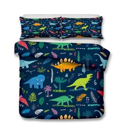 Chinese  Comic Jurassic Landscape Dinosaur Series Bedding Set Print Duvet Cover Set Lifelike Bed Sheet,Twin,Full, Queen, King. manufacturers
