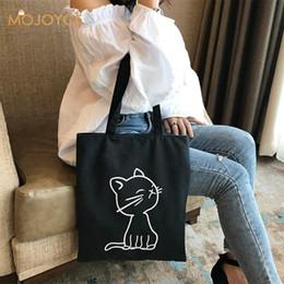 Cute Canvas Handbags Australia - Cute Duck Printed Women Handbag Canvas Shoulder Bag Girls Zipper Shopping Bag Casual Travel Handbag Large Capacity Totes Women