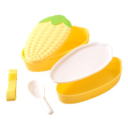 $enCountryForm.capitalKeyWord Australia - Creative cute Corn shape Lunch Box Bento case Microwave Office School Picnic Travel Food Container Storage Box Tableware Case