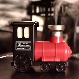 Train Usb Australia - Pop2019 Mini- Usb Small Train Desktop Noctilucent Household Spray Humidifier Mute Foreign Gift