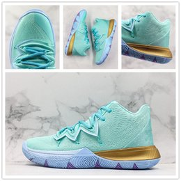 $enCountryForm.capitalKeyWord Australia - Hot Kyrie 5 Squidward Basketball Shoes Animation Figures Cushion Trainer Shoe Top Qualit Men Sports Sneaker With Box Size US7-12