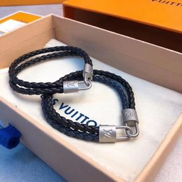 titanium bracelets Australia - European and American fashion classic titanium steel woven bracelet, lovers metal lock bracelet with box