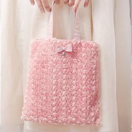 $enCountryForm.capitalKeyWord Australia - Women Totes Lace Handbags Pink Lolita Shoulder Bags Flower Rose Bags Princess Bow Tie Wedding Purse Quality 2019 New Ladies