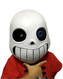 $enCountryForm.capitalKeyWord Australia - Latex Full Head Latex Sans Mask Cosplay Skull Mask Hood Masque Halloween Adult Kids Undertale Sans Masks Helmet Fancy Dress Game prop favors