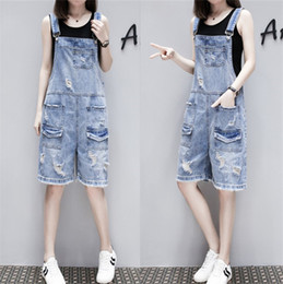 $enCountryForm.capitalKeyWord NZ - Loose Solid Women Playsuits And Jumpsuits Pockets Fashion Casual Denim Overall Shorts Summer Plus Size Jean Overalls For Women Y19051601