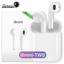 975dc607f8a i8mini tws wireless air bluetooth headphones earbuds pods earphone i9 i9S headset  magnet charger box PK I7 TWS i7s mini for iphone Samsung