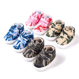 $enCountryForm.capitalKeyWord Australia - Canvas Baby First Walker Shoes Infant Toddler Girl Boy Walking Shoes Bebek Ayakkabi Camouflage Babies For Baby Girl Boy