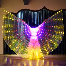 Discount angels costume woman - Luminous Flashing Color Light ISIS Angel Wing Led Butterfly Belly Dance Costume for Women Bellydance Performance Dance A