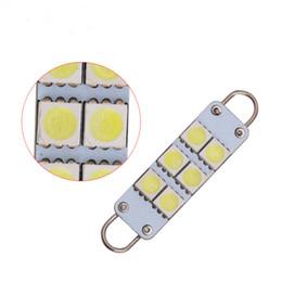 Rigid loop light bulb online shopping - 100x Car Led Rigid Loop mm SMD LED Bulbs Door Lights Festoon Dome Light Dual Arc Ring Automotive Festoon car dome light