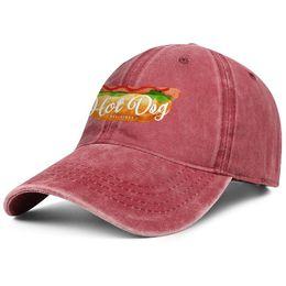 $enCountryForm.capitalKeyWord UK - National Hot Dog Day man Sport Denim baseball hat printing adjustable women's sun cap vintage dad cap mesh hats
