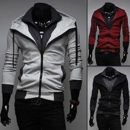 $enCountryForm.capitalKeyWord Australia - Hombre Sweatshirts Men Assassins Creed Hot Sale Men's Double Collars Zippers Sleeve Slim hit the color hooded Casual Sweatshirt