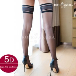 8bf41e91eb9 5D Sexy Silicone Exquisite Lace Top Heel Shaped Stockings Thigh High  Stockings Ultra-thin Ultra Smooth Stocking Womens