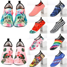 Pink swim shoes online shopping - Beach Water Sports shoes snorkeling shoes socks non slip soft bottom children wading swimming quick drying diving yoga shoes LJJZ381