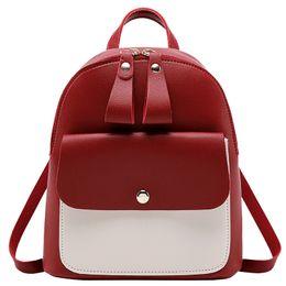 Back Hand Chain UK - Children's Backpack Women Small Shoulder Hand bags Female Back pack 2019 Simple Fashion Multi-Function Mini Bag for Little Girls