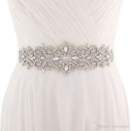 Beaded Belts For Wedding Dresses Australia - 2018 Handmade White Ivory Belt For Wedding Dresses Beaded Crystal Wedding Sash Wedding Accessories Rhinestone Bridal Sash CPA1222