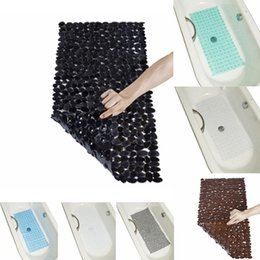 suction cup shapes NZ - Durable Suction Cup Square Shape Non-slip Bathtub Mat Bathroom Mat With