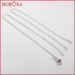 $enCountryForm.capitalKeyWord Australia - wholesale 10PCS 16 Inch Silver Color 1mm Thin Connector Chain Necklace Brass Chains for Connector Necklaces for Women Jewelry PJ113