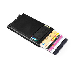 $enCountryForm.capitalKeyWord Australia - Men Aluminum Wallet With Back Pocket ID Blocking Mini Slim Metal Wallet Automatic Pop up Coin Purse