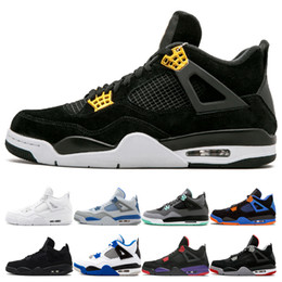 Sport 89 online shopping - 4s Royalty Basketball Shoes for men Pure Money White Cement Raptors Black cat Bred Fire Red Alternate mens trainers Sports Sneakers