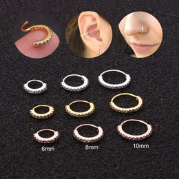 Jewelry cartilage piercings online shopping - Feelgood PC mm Cz Hoop Nose Ear Piercing Jewelry Tragus Snug Rook Daith Lobe Cartilage Helix Hoop Earring
