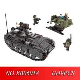 Toy Vehicle Build Australia - STAR 06018 Genuine 1049PCS Military Series The Armoured Vehicle Set Building Blocks Bricks Educational Toys As Children Gifts