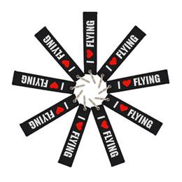 I love lanyard online shopping - Airway Runway Embroidered Individual keyring Black and white Aeronautical Memorial Keychain I love flying lanyard dhl fast shipping free