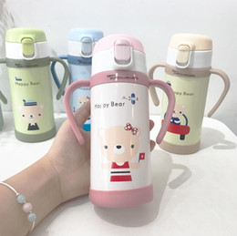 $enCountryForm.capitalKeyWord NZ - Cute Stainless Steel Thermos Vacuum Flasks Kid's Cartoon Thermal Insulation Water Bottle With Handle Sweet Gift for Children
