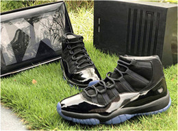 $enCountryForm.capitalKeyWord Australia - 2019 Release Cap And Gown 11 Prom Night Blackout 11S Men Basketball Shoes Authentic Real Carbon Fiber Sports Sneakers With Box 378037-005
