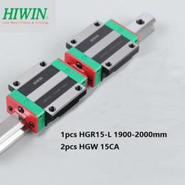 Linear Rail Cnc Australia - 1pcs Original New HIWIN HGR15-1900mm 2000mm linear rail guide + 2pcs HGW15CA  HGW15CC linear Flange Carriage for cnc router parts