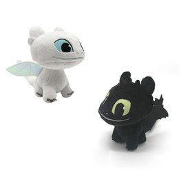 "night light anime NZ - Hot New 2 Styles 7"" 18CM Toothless Dragon Light Fury Night Fury #1 Plush Doll Anime Collectible Stuffed Dolls Best Gifts Soft Toys"