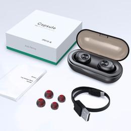 $enCountryForm.capitalKeyWord Australia - New Capsule TWS Wireless Earbuds V5.0 Bluetooth Earphone Headset Deep Bass Stereo Sound Sport Earphone For Samsung Iphone (Retail)