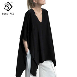 $enCountryForm.capitalKeyWord Australia - 2017 Womens Shirts Sexy Oversized Asymmetric Poncho Cape Casual Top For Women Batwing Sleeves Irregular Loose T-shirts T7n865a C19041001