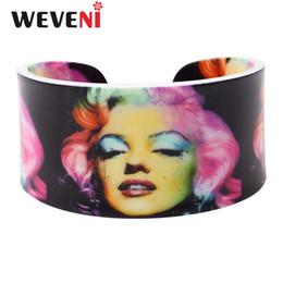 $enCountryForm.capitalKeyWord UK - WEVENI Lightweight Plastic Sexy Marilyn Monroe Bangles Bracelets For Women 2017 New Fashion Jewelry Original Girl Accessories