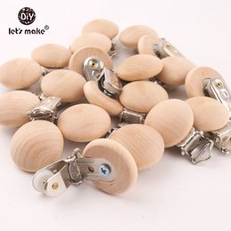 $enCountryForm.capitalKeyWord Australia - Let's Make 20pcs Pacifier Making Soother Nursing Accessories Diy Dummy Clip Chains Wooden Baby Teether 29*45mm