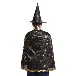 Cartoon Pointed Star Australia - 7 Colors New Fashion Cute Halloween five-pointed star costumes Wizard Witch Hat Party Cosplay Props Clear Hats for Kids Clacks