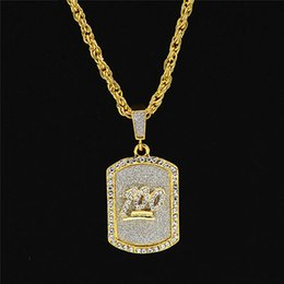 $enCountryForm.capitalKeyWord Australia - Hot Sale Hip Hop Designer Necklace Simple Military Mens Necklace Gold Plated Luxury Necklaces Fashion Rhinestone Jewelry Wholesale