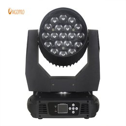 Discount moving heads lights price - High quality Dj Lights Stage Rgbw Wash 19x12w Led Moving Head Zoom stage supplier qith factory price
