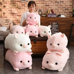 Cute Stuffed Animal Pig Australia - Kawaii Love Pig Plush Pillow Stuffed Doll Cute Animal Cushion Hand Warmer Pig Toy 50cm Kid Birthday Gift