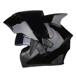 modular helmets 2019 - Motorcycle Helmet Modular Moto Helmet Racing Flip Up Casco Moto Motorbike With Inner Sun Visor Double Lens cheap modular