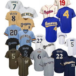 baseball jerseys milwaukee 2021 - Milwaukee Justin Smoak Jersey Orlando Arcia Keston Hiura Ryan Braun Lorenzo Cain Josh Hader Woodruff Christian Yelich Baseball Jerseys